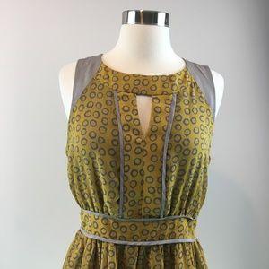 Esley Dresses - Esley Yellow Gray Leppard Print Summer Dress Size